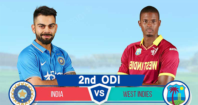 India vs West Indies 2nd ODI 2019