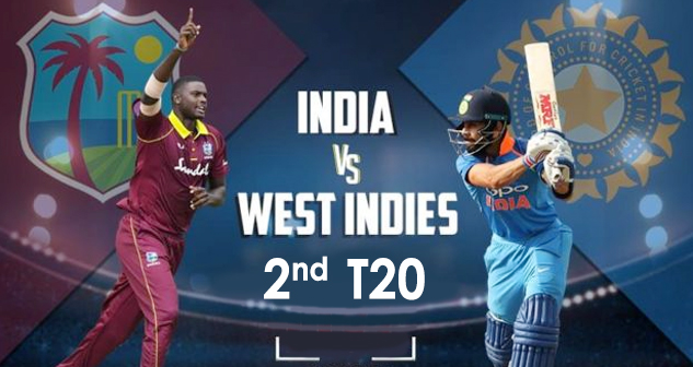 IND vs WI 2nd T20 Dec 2019