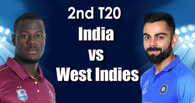 India vs West Indies 2nd T20 2019